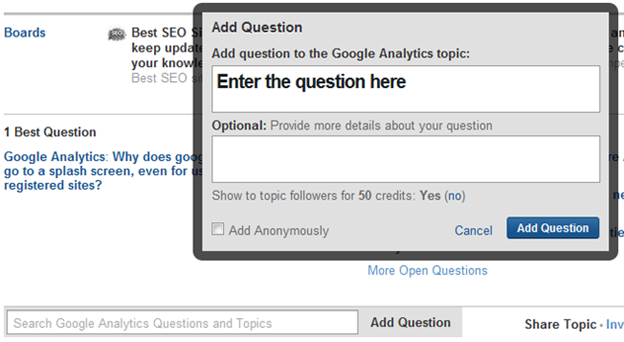 relevant questions on Quora,