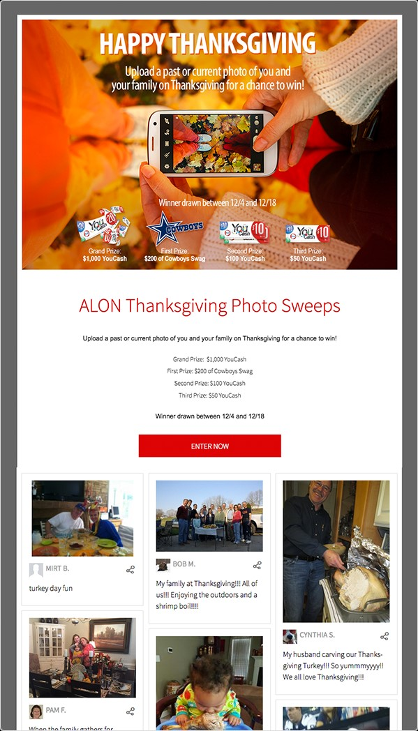alon thanks giving sweeps