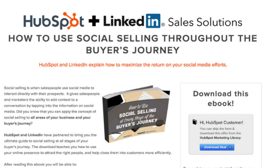 Here's an example from Hubspot + LinkedIn